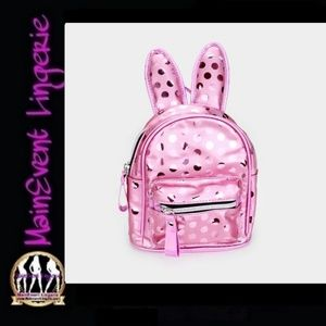 Pink Bunny Ears Mini Backpack